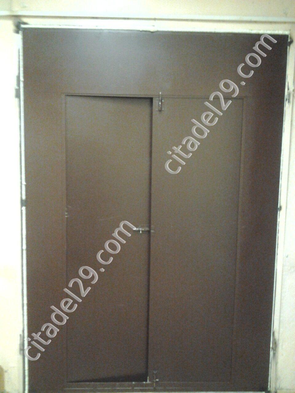 стальные двери двухстворчатые для квартиры